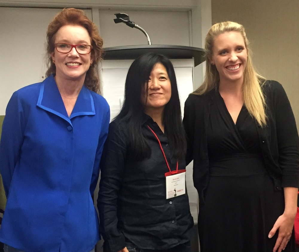 Karen MacNeil, Stevie Kim and Meaghan Frank on the Women in Wine Panel at the 2015 Wine Bloggers Conference in Corning, NY  photo by Gabriel Manzo