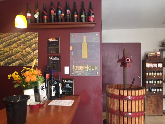 Tasting room at Idle Hour, Oakhurst.