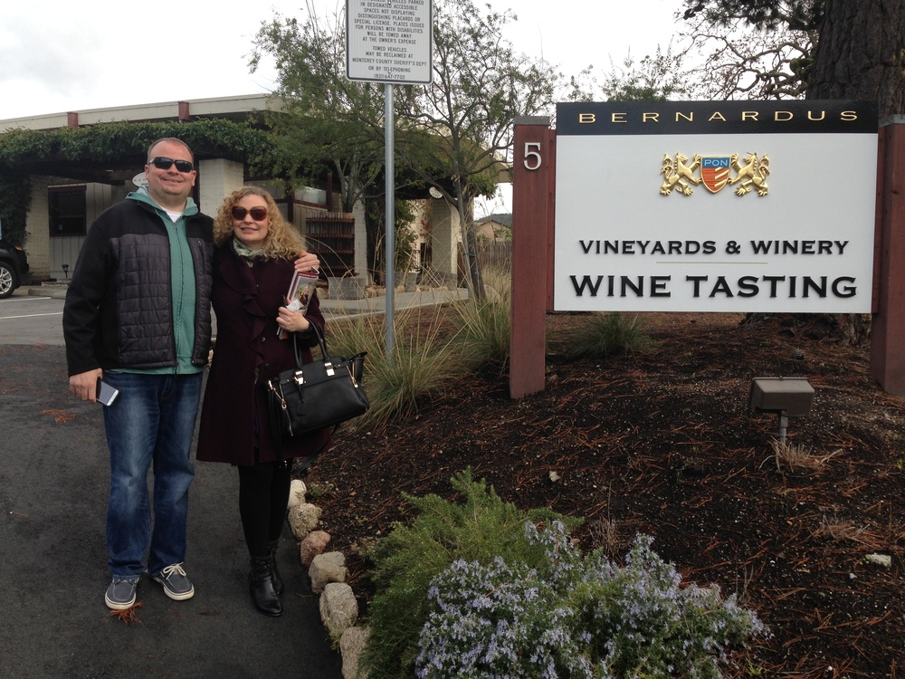 Wine tasting with my brother Wes, at Bernardus in The Carmel Valley.  Photo by Gabriel Manzo.