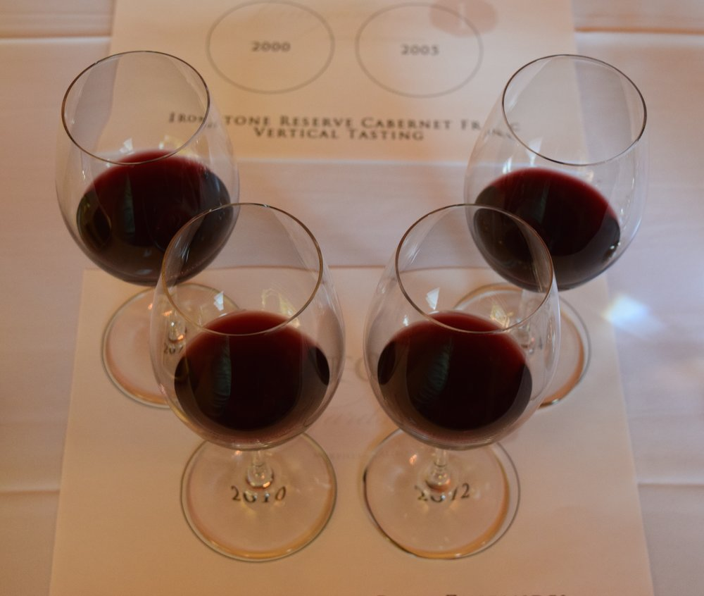 Aerial view of the Reserve Rous Zinfandel Vertical Tasting