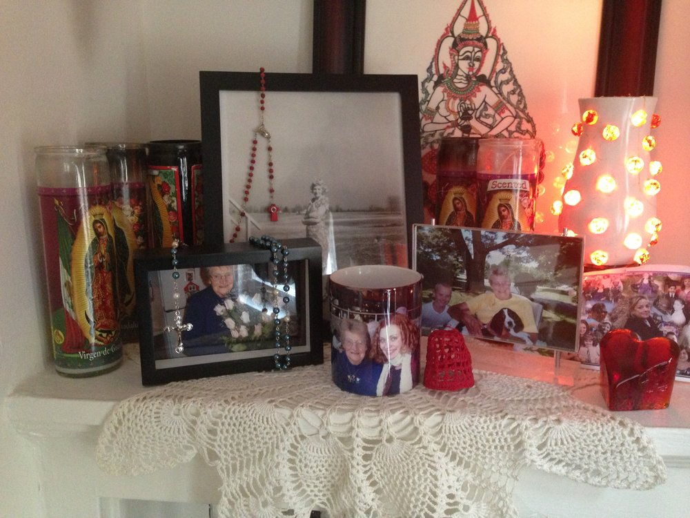An altar I kept in my home when I lived in Chicago, 2013.