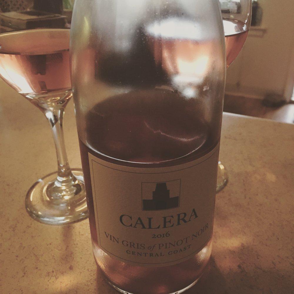 The 2016 Calera Vin Gris of Pinot Noir, Central Coast, San Benito, County, California.