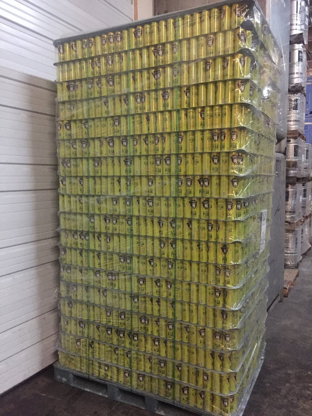 A buttload of dry-hopped pear cider.