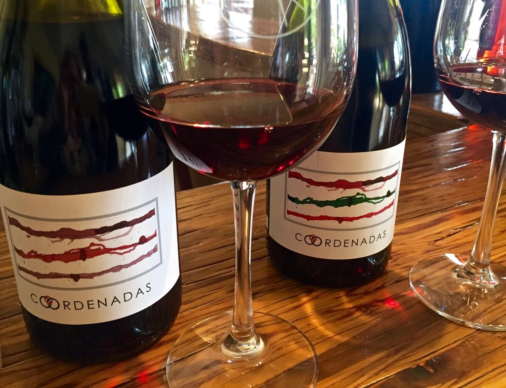 Vinos Pijoan's Coordenadas series of blends of Syrah, Grenache and Carignan, some of which is from Mexico and some from France.