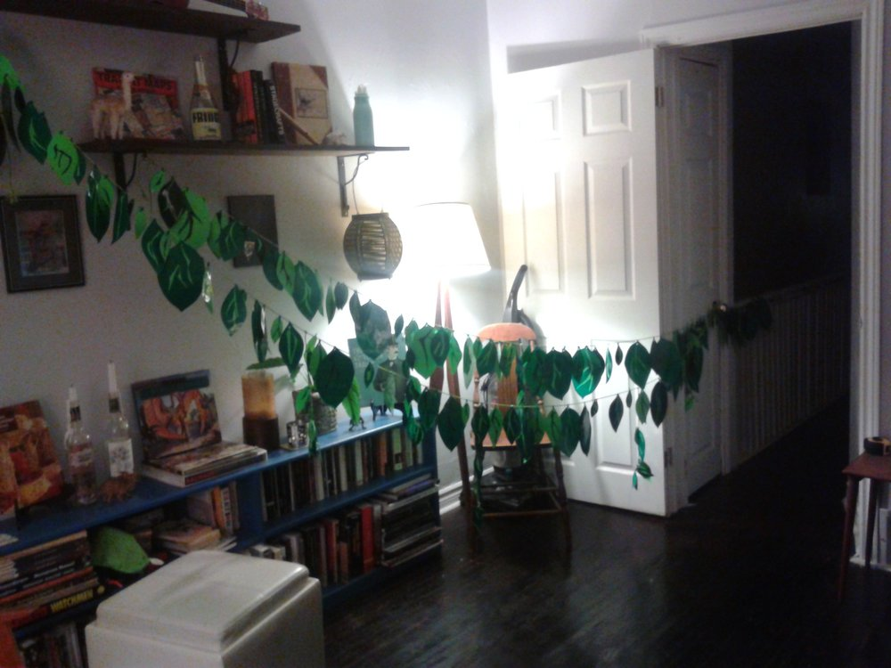 "That time I built hundreds of vinyl leaves for Rebecca Perry's ""Adventures of a Red Headed Coffee Shop Girl"""