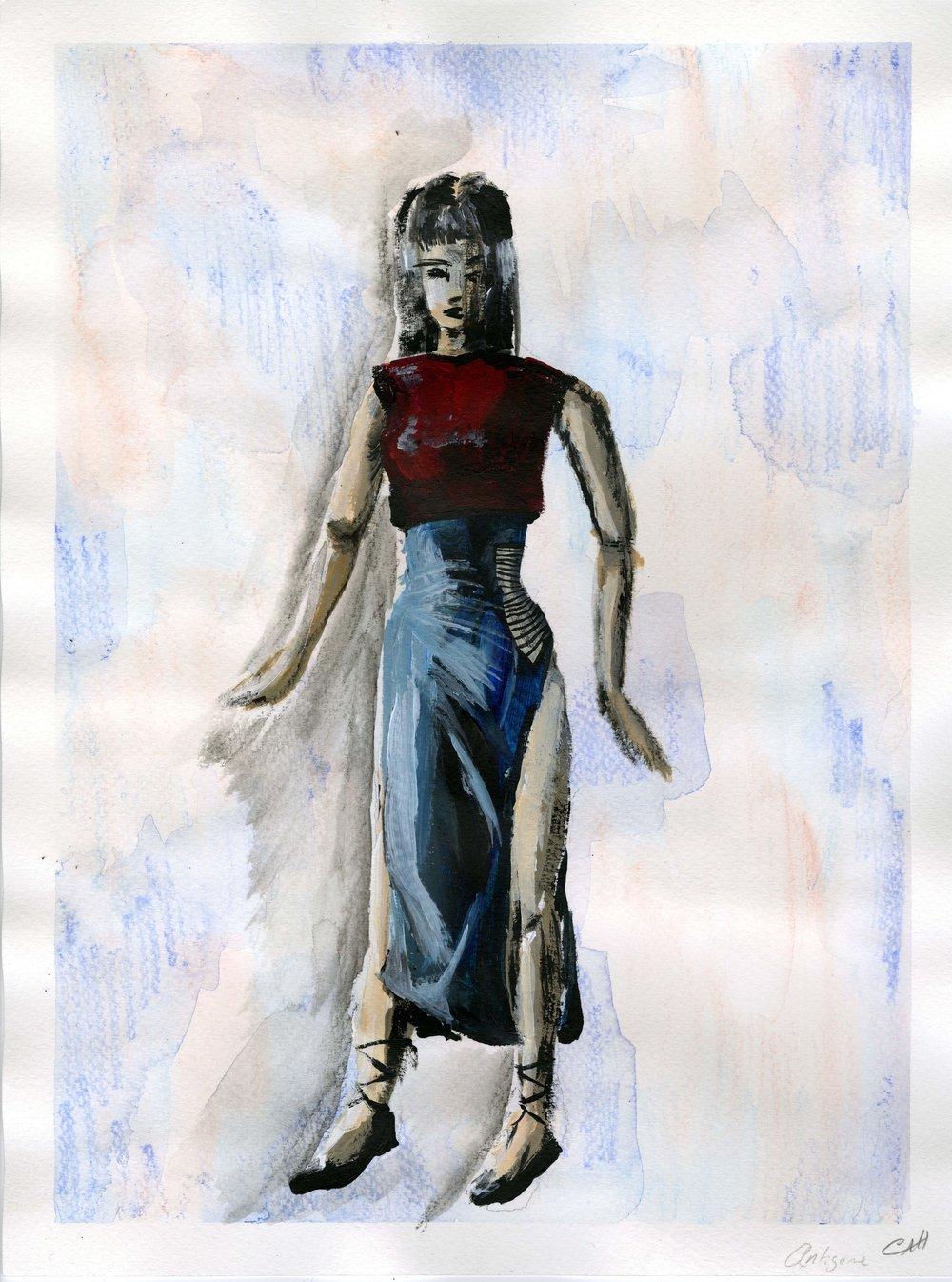 Costume plate, Antigone