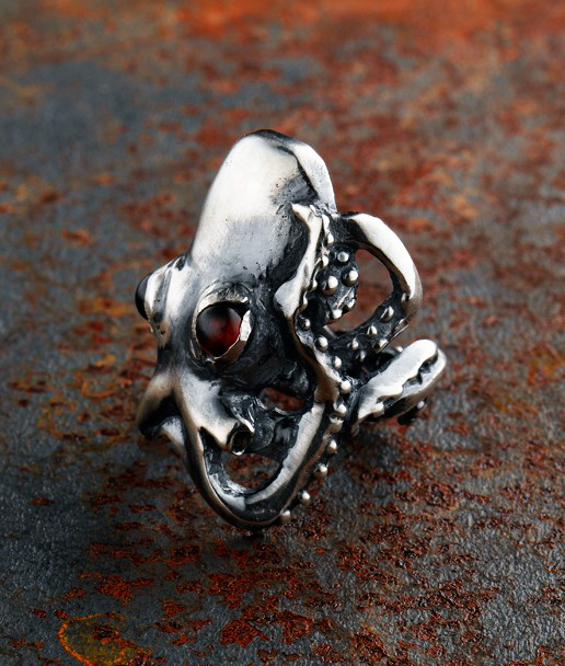 jewelry evil punk steel item blue fashion eye men rings s titanium devil women ring