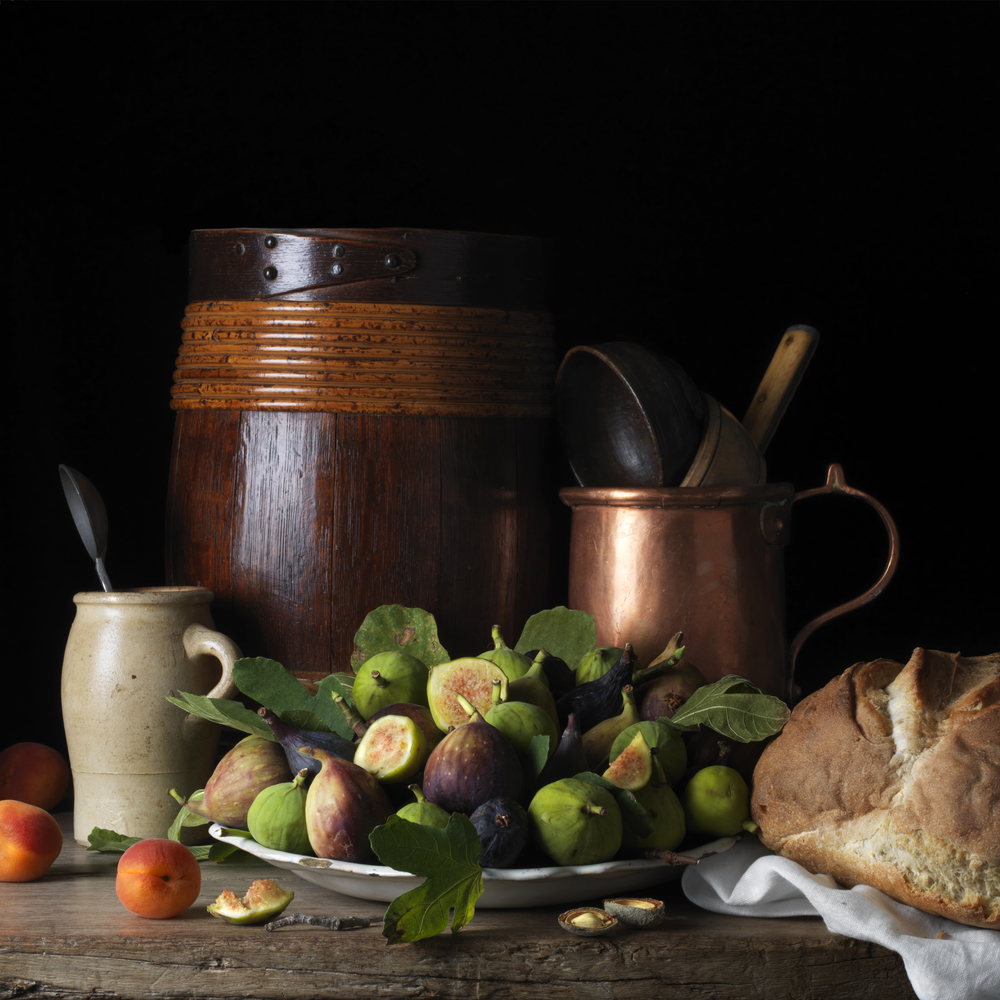 Still Life With Figs and Apricots, After L.M. © 2014 Paulette Tavormina