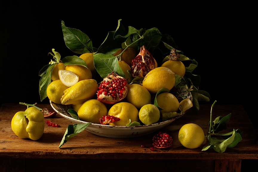Lemons and Pomegranates, After J.V.H., 2010