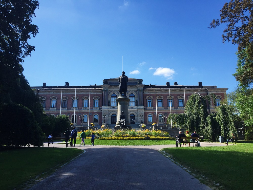 The main building of Uppsala University.