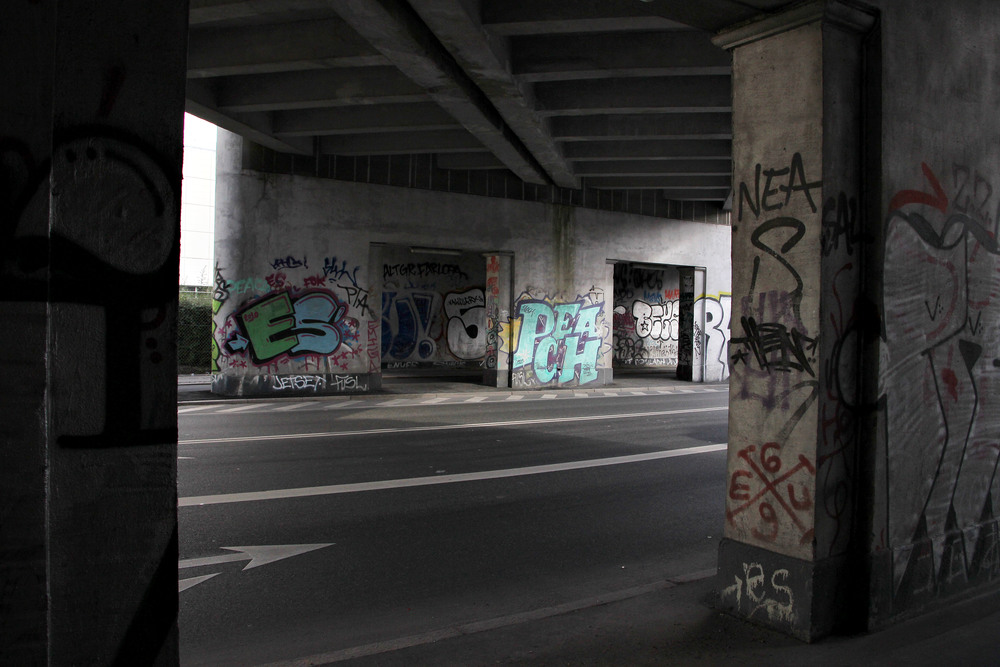Graffiti art along the highway.