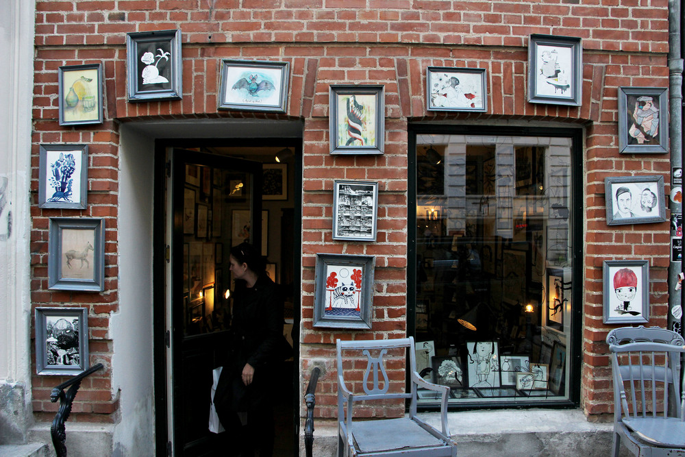 Cute art gallery filled with local art.