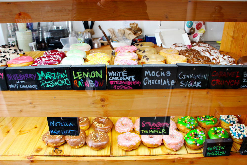 The Donut Shop- I think it's kind of like Denmark's Krispy Creme because all the 7-Eleven's carried the brand. I got the rainbow lemon one... Amazing.