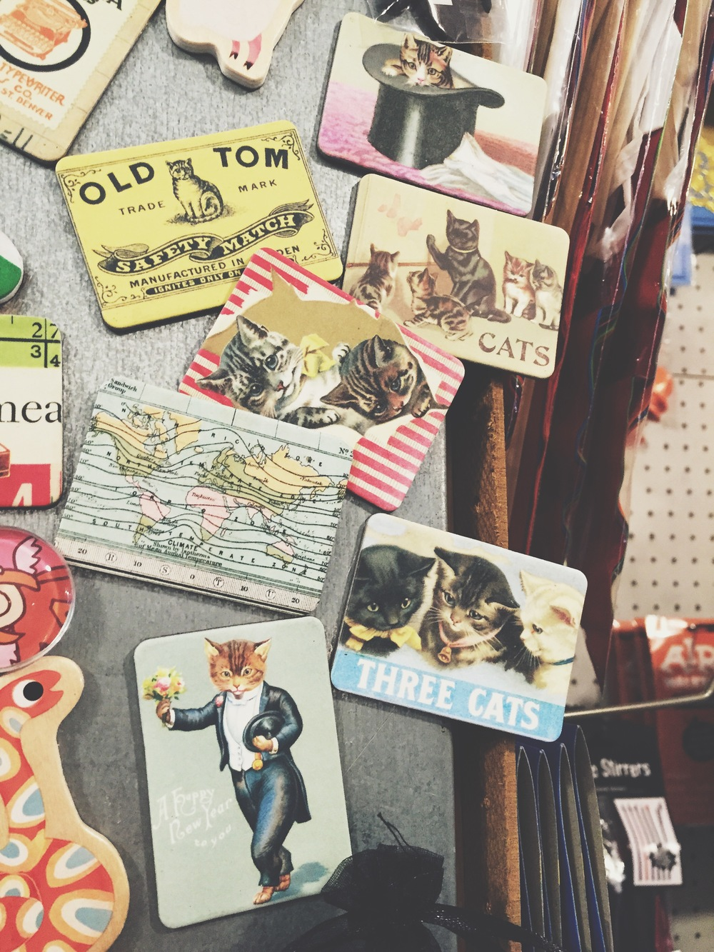 Cat magnets at a random store in Milan, Italy. I wanted all of them.