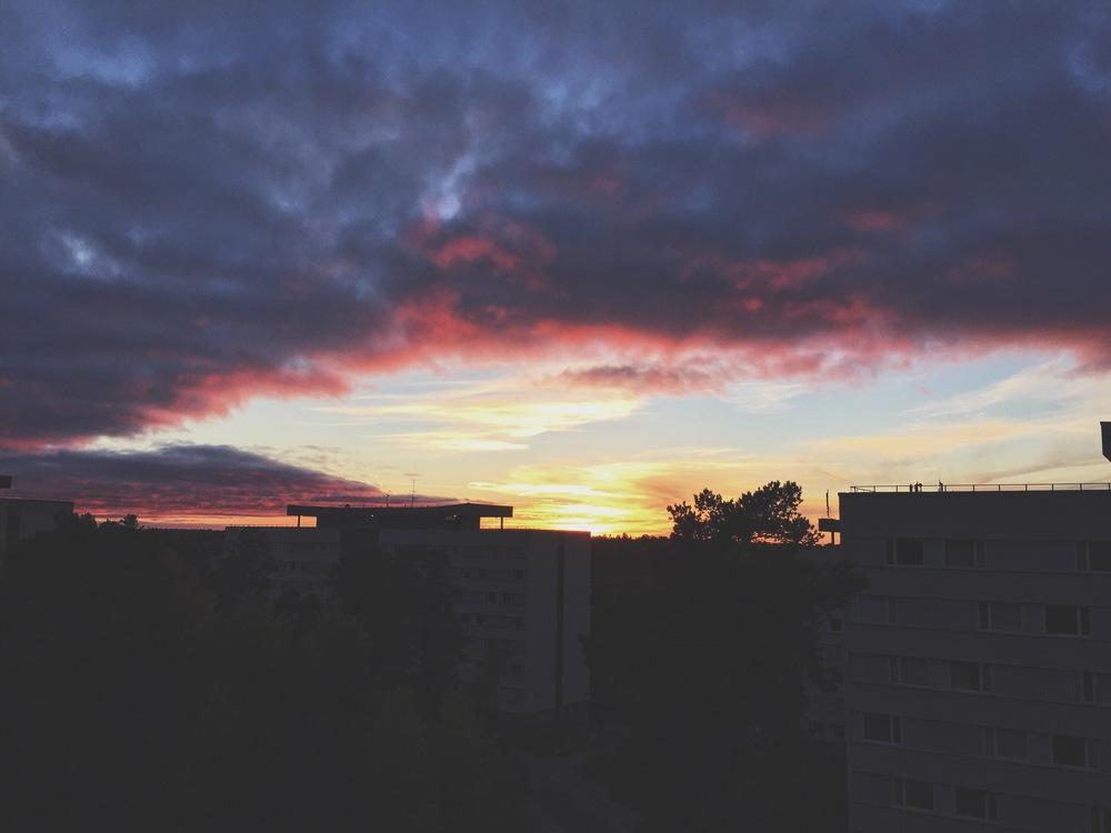 Sunset outside my window.