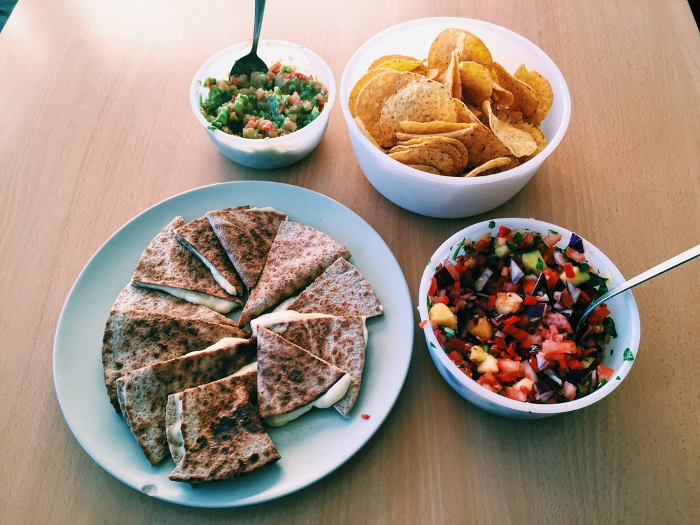 Got homesick for Mexican food, so I learned how to make salsa and guacamole.