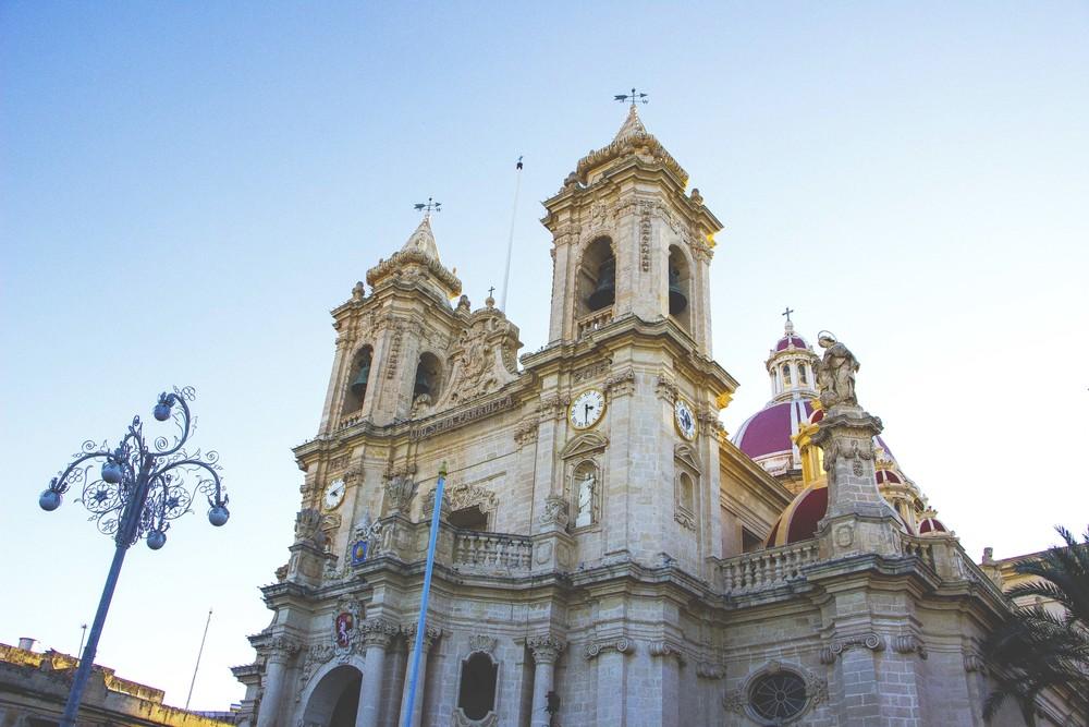 The Parish Church in Zabbar, Malta.