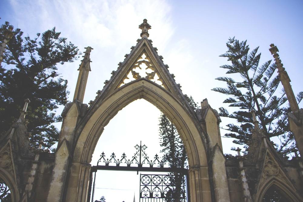 The gates to the Malta (Capuccini) Naval Cemetery.