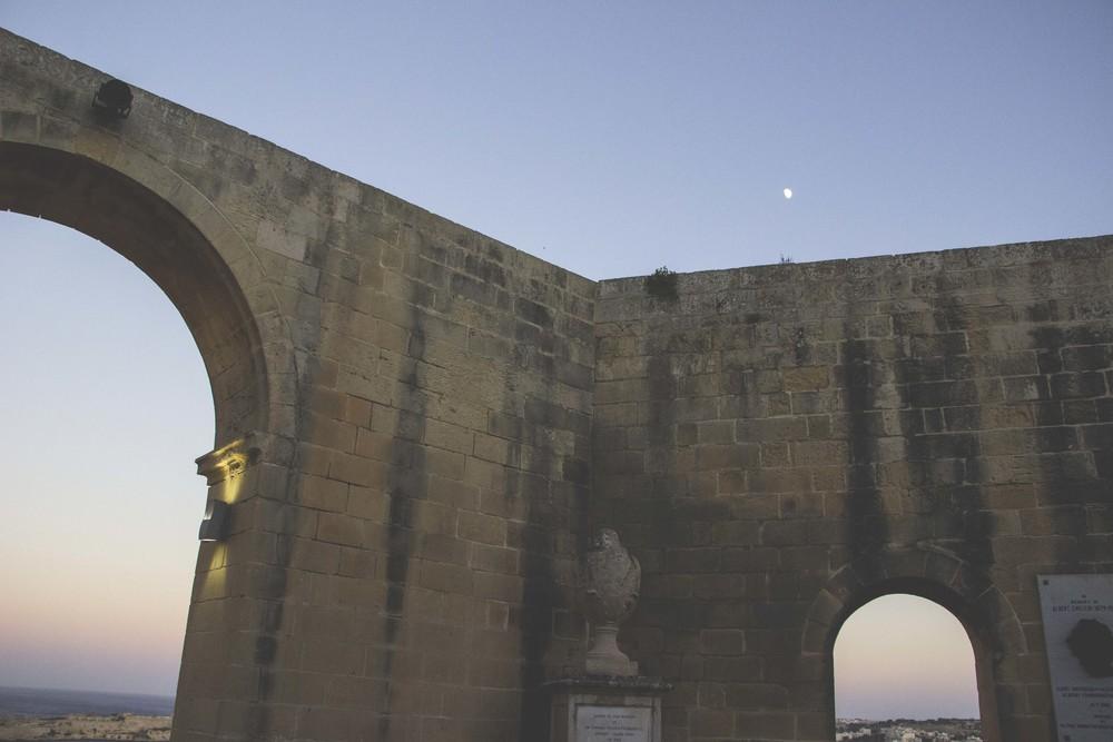 Dusk at the Upper Barrakka Gardens in Valletta.