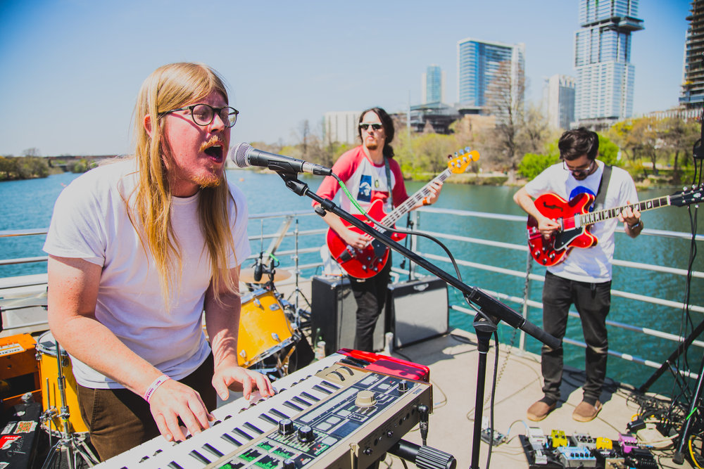 Holy Wave performing on Lady Bird Lake on 03.14.2018