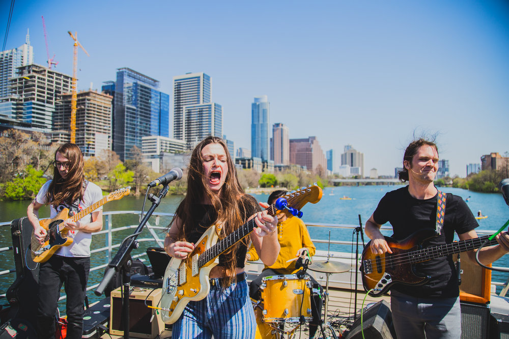 Annabelle Chairlegs performing on Lady Bird Lake on 03.14.2018