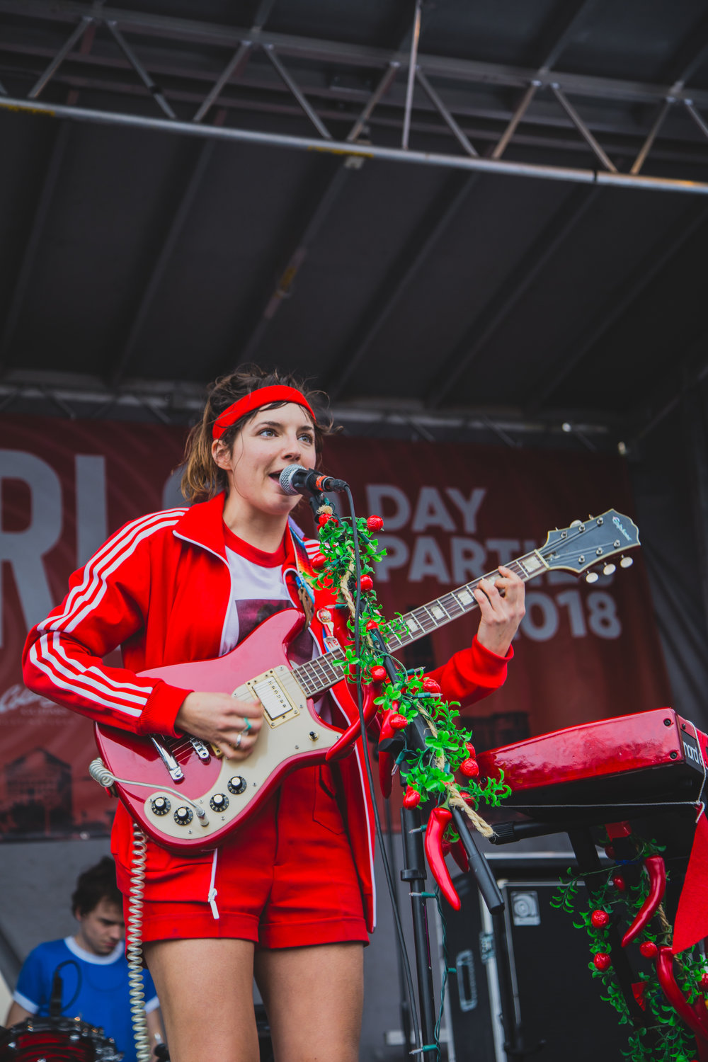 Caroline Rose performing at the Waterloo day party on 03.15.2018