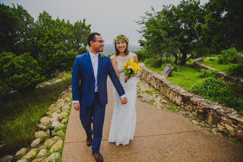 Jackie and Herbert during their wedding at Chapel Dulcinea.