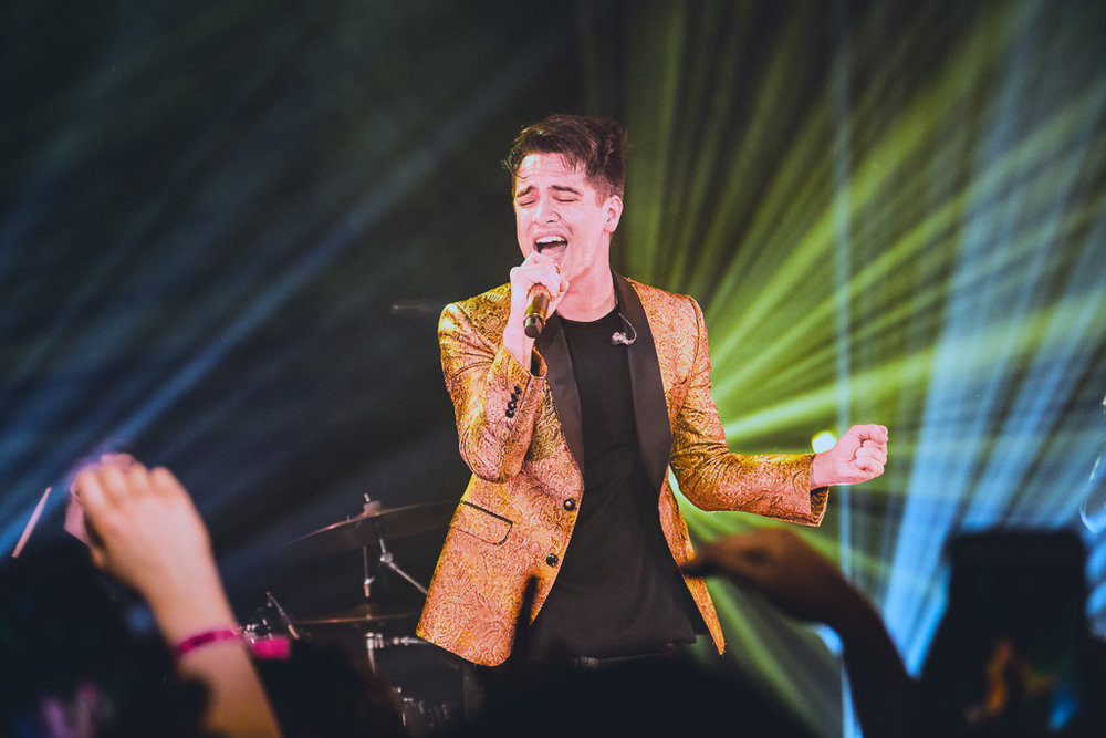 Brendon Urie of Panic! at the Disco in Austin, TX.