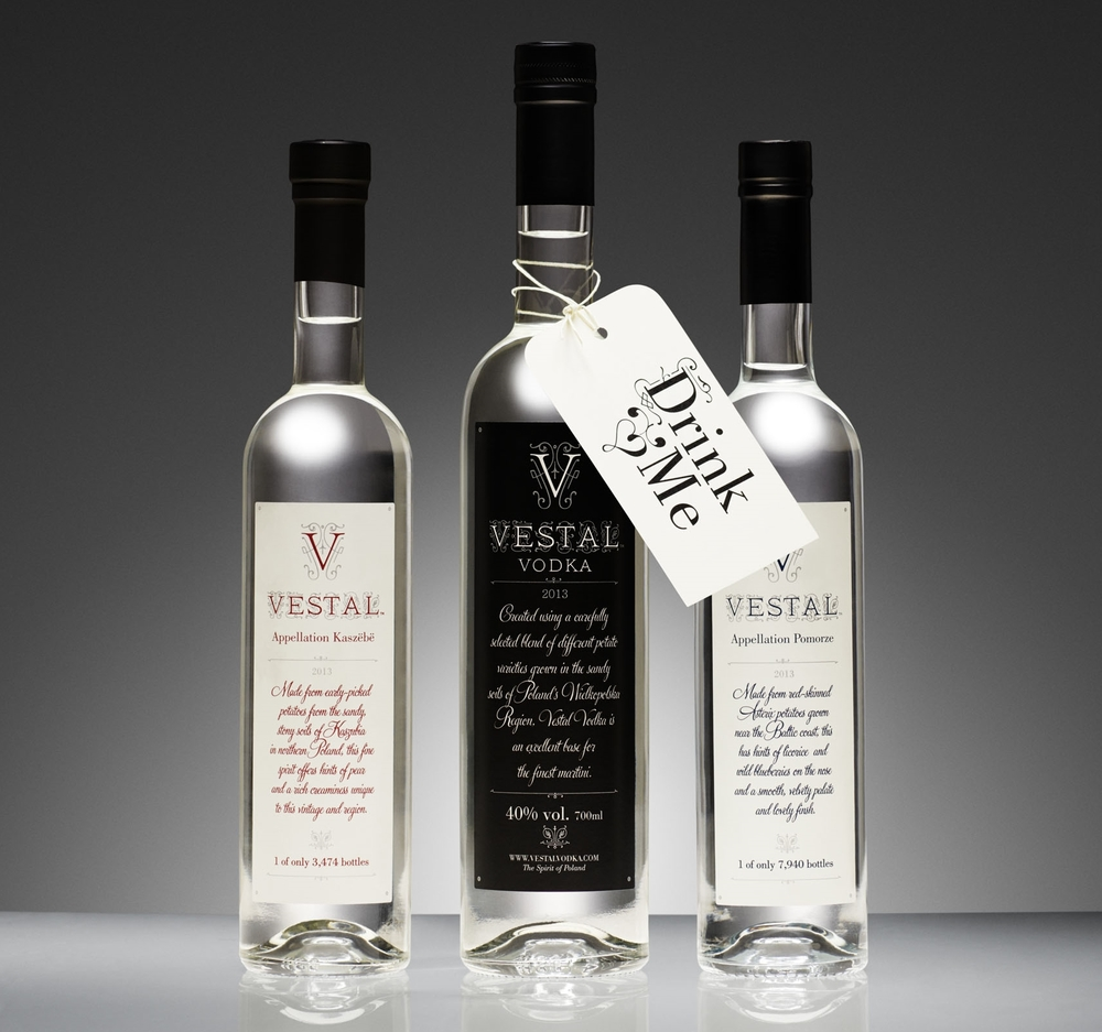 "Vestal Vodka is the newest exciting addition to our portfolio, and we're delighted to be able to showcase a potato spirit heretofore unknown in the southern hemisphere. Using only small potatoes especially harvested for their high flavour and starch content, eau de vie is not an unfair descriptor. This is as opposed to most potato vodkas producers who according to owner William Borell ""Take waste from McDonald fries, or utilise the large flavourless supermarket varieties.""  We have three unfiltered bottlings from Vestal, showcasing two different vintages and two different appellations in Poland that all need to be tasted to be understood. Also we have Vestal's blended vodka, which has the precision required for a mixing vodka, and flavour in abundance that doesn't get lost amongst other ingredients.  William explains, ""The blended potato vodka is a supreme, everyday drinking vodka. It has everything you need but with the DNA of Vestal - it's something you can drink neat, it has the viscosity, the creamy and buttery mouthfeel that runs through all of our spirits.: All of the expressions offer up a sense of the earth from which they originally came, and this is a very tasty comfort to experience. Our Pomorsze 2013 has fruitier tones while the Kaszebe vintages 09 and 13 are vastly different, with dominant notes of sake and cacao respectively showcasing the positive effects of bottle-conditioning (next article). Again the essence of Mother Earth features prominently, in a manner not dissimilar to a well-made mezcal but without the smoke.  Key for us is drinking these slightly chilled, or ""if you are feeling very good about yourself - you have a bonus in your pocket or you're celebrating something - make a martini."""