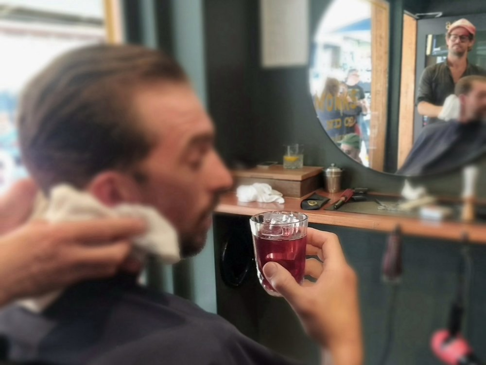 Shave and a cocktail?