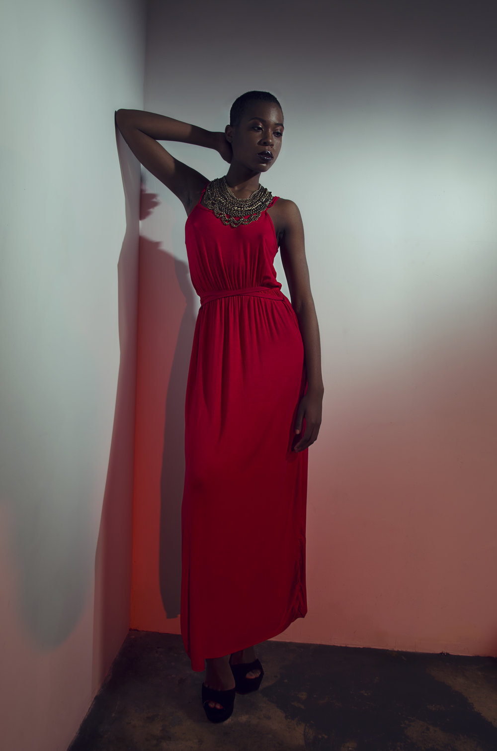 THE SAMANTHA DRESS in red  The brands signature item that is versatile and can be worn as a maxi, midi or mini.
