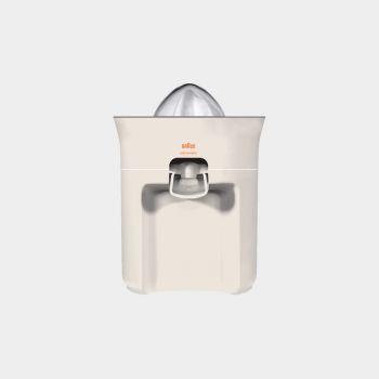 MPZ 21 multipress citrus juicer, 1972, by Dieter Rams for Braun [CC BY-NC-ND 3.0] via Vitsœ.