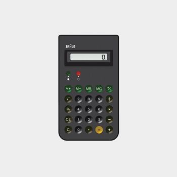 ET 66 calculator, 1987, by Dieter Rams for Braun [CC BY-NC-ND 3.0] via Vitsœ.