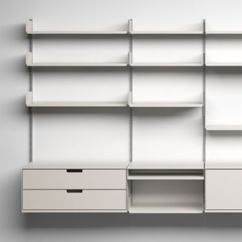 606 Universal Shelving System, 1960, by Dieter Rams for Braun [CC BY-NC-ND 3.0] via Vitsœ.