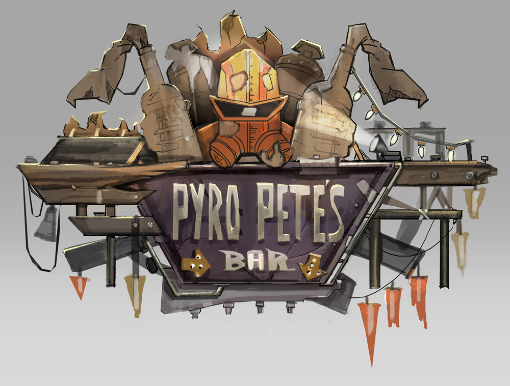 Pyro Pete Bar Sign / Borderlands 2: Mr. Torgue's Campaign of Carnage