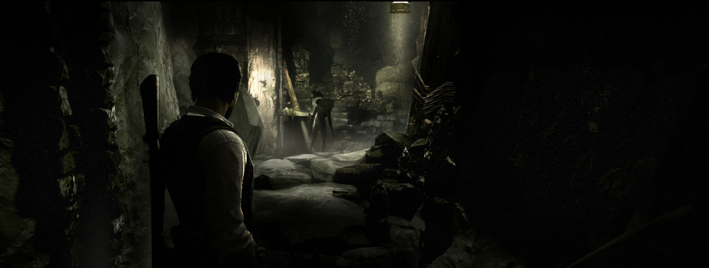The Evil Within / lighting design paintover on level art
