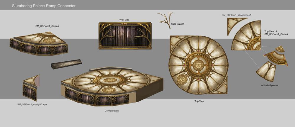 Sorcery / Slumbering Palace floor pieces