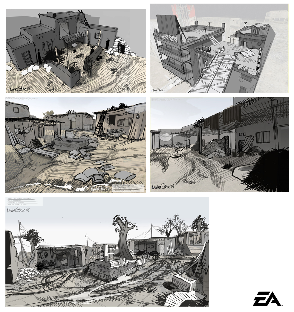 Medal of Honor - Layout sketches