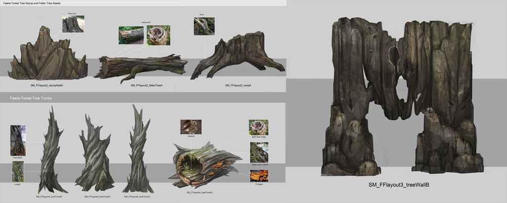 Sorcery - Faerie Forest tree assets