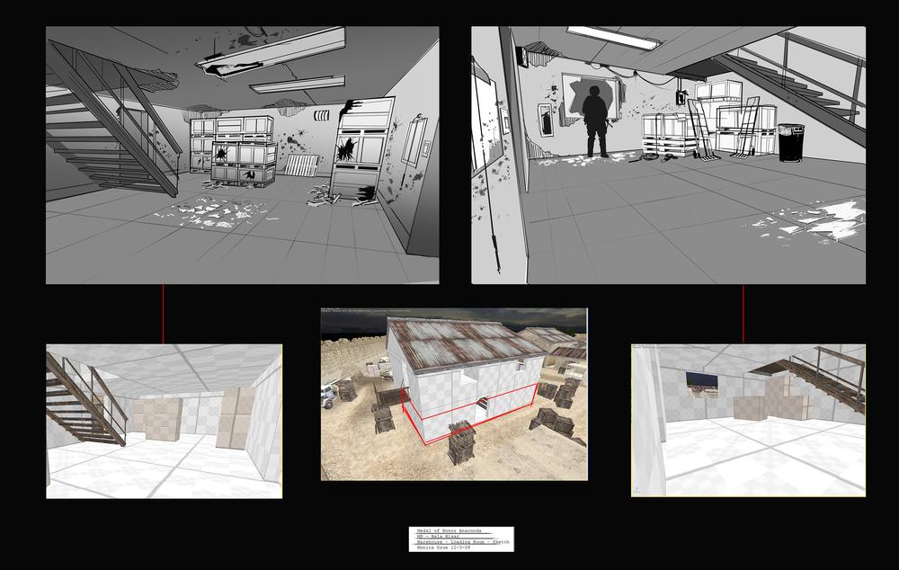 Medal of Honor - Bala Hisar warehouse sketches