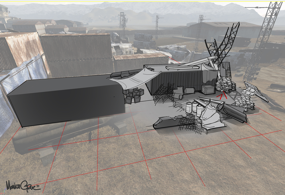 Medal of Honor - Bagram level sketch over