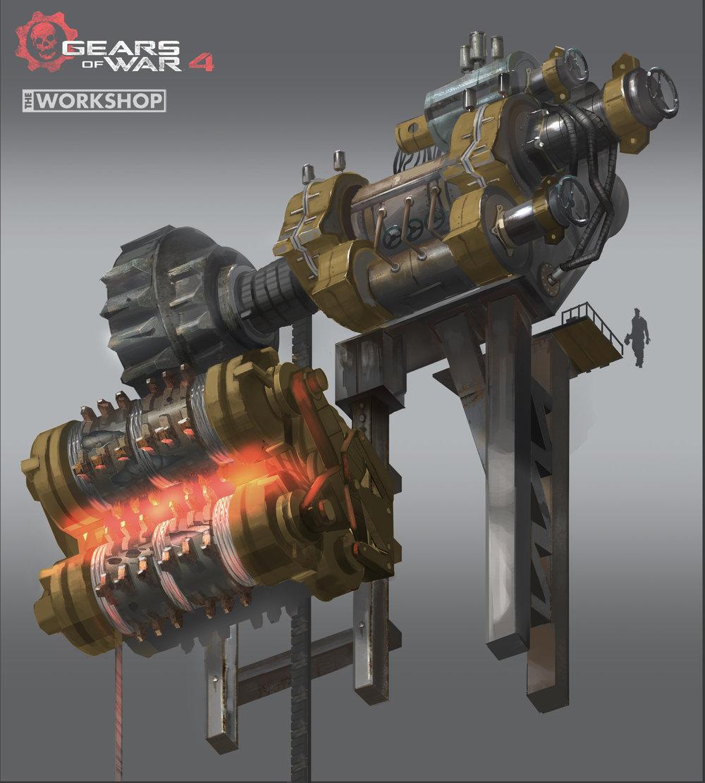Gears of War 4 - Get out: Gear Grinder design
