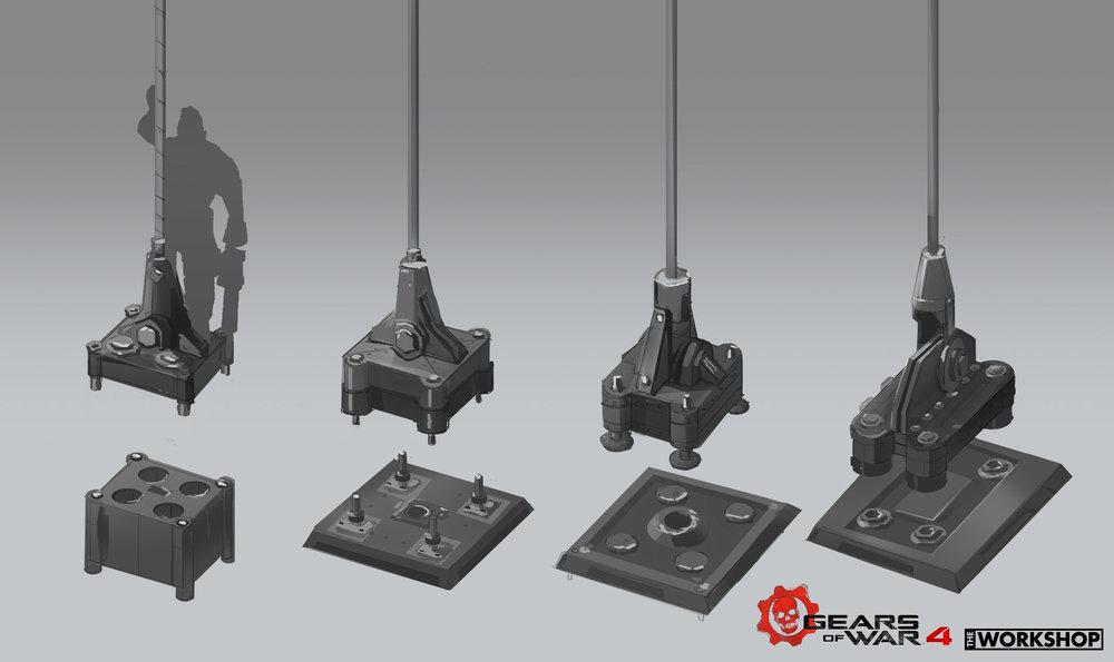 Gears of War 4: Get Out - Platform sketches