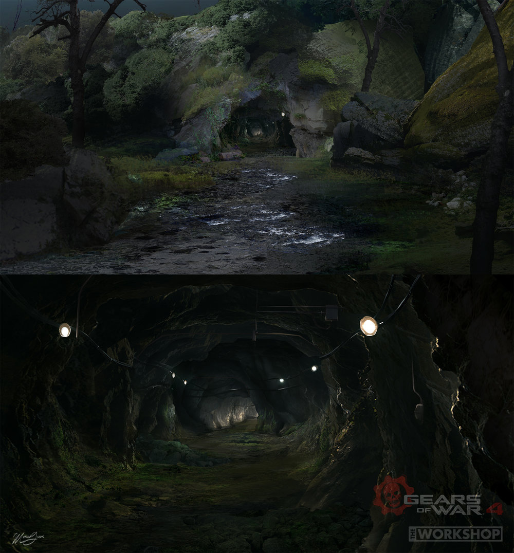 Gears of War 4 - The Great Escape: Cave Ext/Int