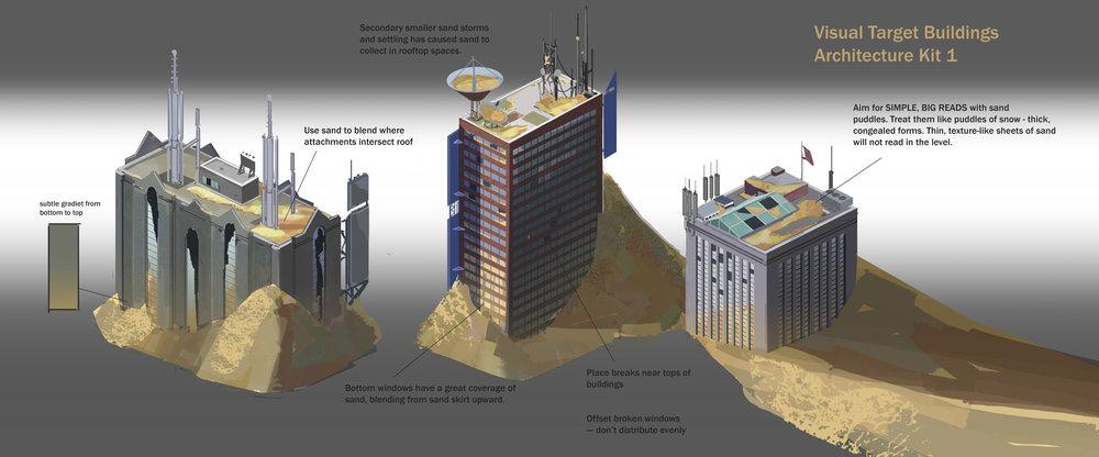 Archangel (VR) - City buildings concepts