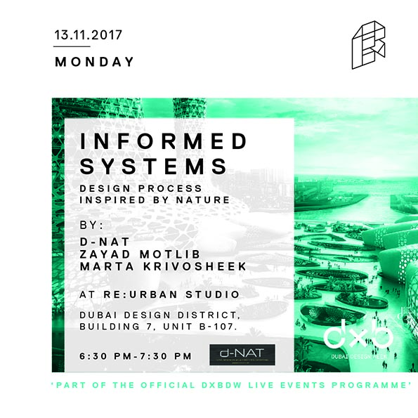 A Presentation by Zayad Motlib and Marta Krivosheek at Dubai Design Week 2017 on Nov. 13, 6:30-7:30 pm.