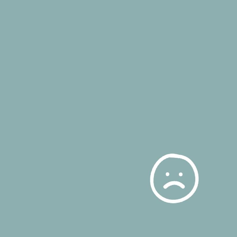 Sadie - trauriger Smiley auf grünen Hintergrund