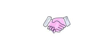 Gezeichneter Handshake