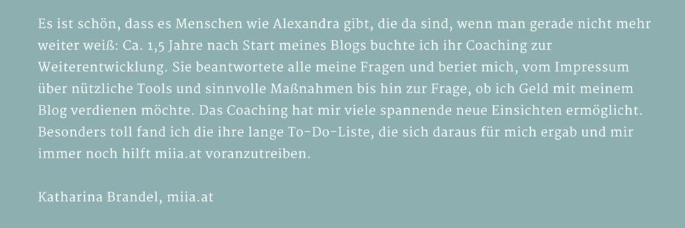 Kundenstimme von Katharina Brandel