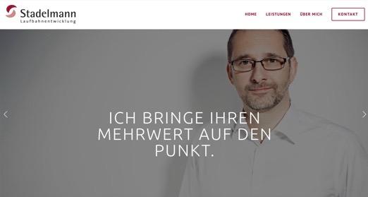Gestaltung und Umsetzung einer neuen Website auf Squarespace für den Laufbahnentwickler Thomas Stadelmann.